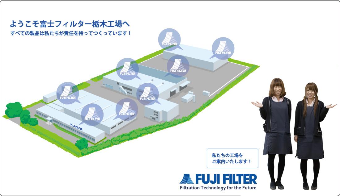 富士フィルター工場見学 クリック